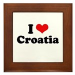 I love Croatia Framed Tile