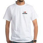 I love Croatia White T-Shirt