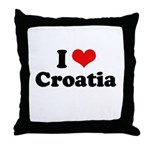I love Croatia Throw Pillow