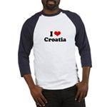 I love Croatia Baseball Jersey