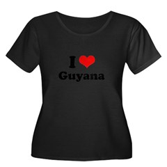 I love Ghana Women's Plus Size Scoop Neck Dark T-S