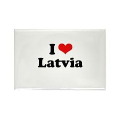 I love Latvia Rectangle Magnet (10 pack)