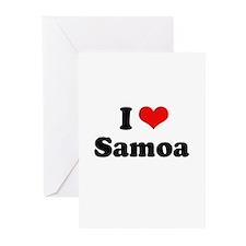 I love Samoa Greeting Cards (Pk of 20)
