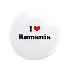 """I love Romania 3.5"""" Button"""