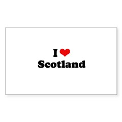 I love Scotland Rectangle Sticker 10 pk)