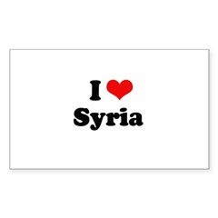 I Love Syria Rectangle Sticker 10 pk)