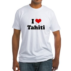 I Love Tahiti Fitted T-Shirt