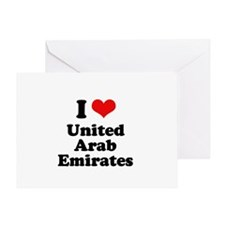 I love United Arab Emirates Greeting Card