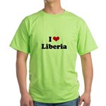 I love Liberia Green T-Shirt