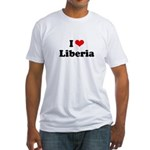I love Liberia Fitted T-Shirt
