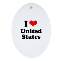 I love United States Oval Ornament