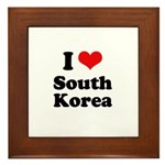 I Love South Korea Framed Tile