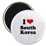 I Love South Korea Magnet