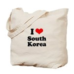 I Love South Korea Tote Bag