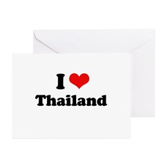 I love Thailand Greeting Cards (Pk of 10)
