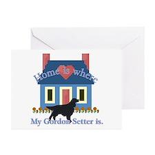 Gordon Setter Home Greeting Cards (Pk of 10)