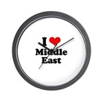 I love Middle East Wall Clock