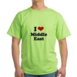 I love Middle East Green T-Shirt