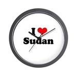 I love Sudan Wall Clock
