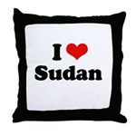 I love Sudan Throw Pillow