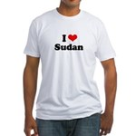 I love Sudan Fitted T-Shirt