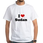 I love Sudan White T-Shirt