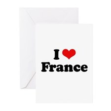 I love France Greeting Cards (Pk of 20)