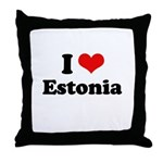 I love Estonia Throw Pillow