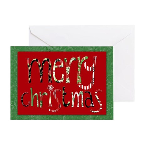 merry Christmas graphic Greeting Card