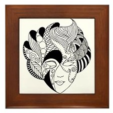 Framed Tile with black and white mask