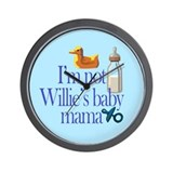 Not Mayor Willie's Baby Mama Wall Clock