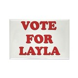 Vote for LAYLA Rectangle Magnet