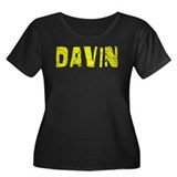 Davin Faded (Gold) Women's Plus Size Scoop Neck Da