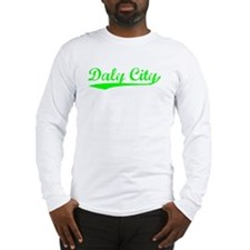 Vintage Daly City (Green) Long Sleeve T-Shirt