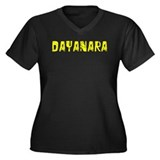 Dayanara Faded (Gold) Women's Plus Size V-Neck Dar