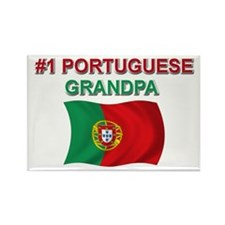 #1 Portuguese Grandpa Rectangle Magnet