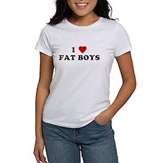 I Love [Heart] Fat Boys Womens T-Shirt