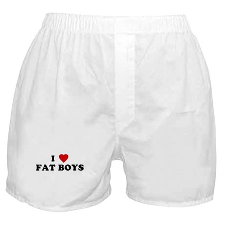 I Love [Heart] Fat Boys Boxer Shorts