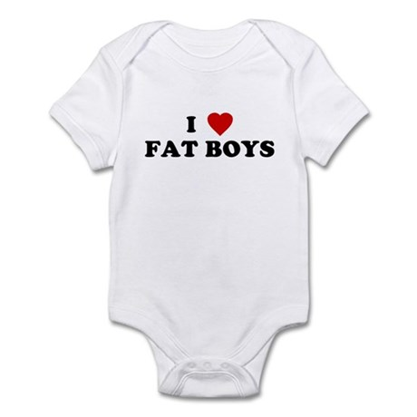 I Love [Heart] Fat Boys Infant Creeper