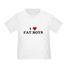 I Love [Heart] Fat Boys Toddler T-Shirt