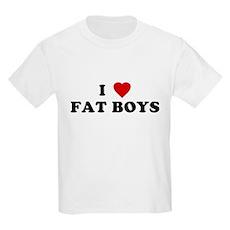I Love [Heart] Fat Boys Kids T-Shirt