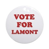 Vote for LAMONT Ornament (Round)