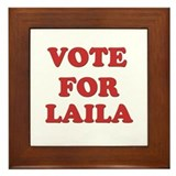 Vote for LAILA Framed Tile