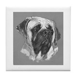 Mastiff Tile b/w Coaster