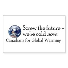 Canadians for Global Warming Rectangle Decal
