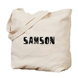 Samson Faded (Black) Tote Bag