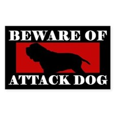 Beware of Attack Dog Neapolitan Mastiff Decal