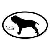 Neapolitan Mastiff Silhouette Sticker (Euro-Style)