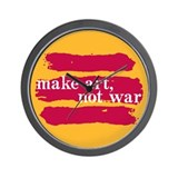Make Art, Not War Wall Clock