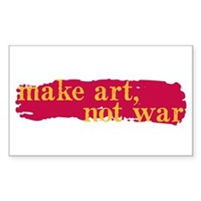 Make Art, Not War Rectangle Sticker 10 pk)